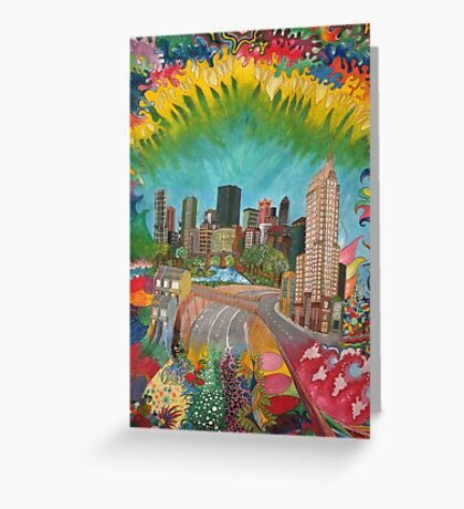 City - vivid Greeting Card