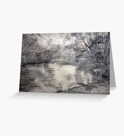 At the river Greeting Card