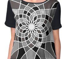Monochrome Mosaic  Chiffon Top