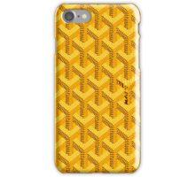 Goyard Yellow iPhone Case/Skin