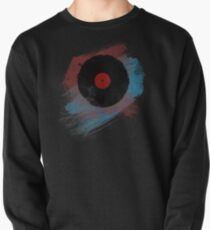 Vinyl Record - Modern Vinyl Records Grunge Design - Tshirt and more Pullover