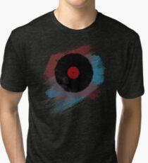 Vinyl Record - Modern Vinyl Records Grunge Design - Tshirt and more Tri-blend T-Shirt