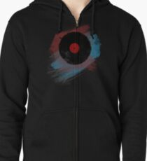 Vinyl Record - Modern Vinyl Records Grunge Design - Tshirt and more Zipped Hoodie
