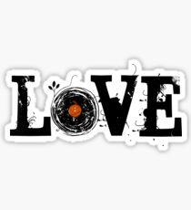 Love Vinyl Records Sticker