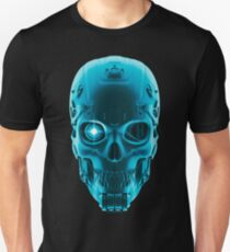 Gamer Skull BLUE TECH T-Shirt