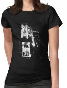 The door is open and the lights are on...  Womens Fitted T-Shirt