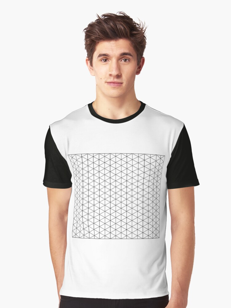 Isometric Grid. Graphic T-Shirt Front