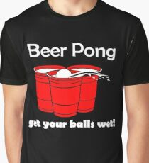 Beer Pong Get Your Ball Wet Graphic T-Shirt