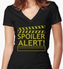 Spoiler Alert Women's Fitted V-Neck T-Shirt