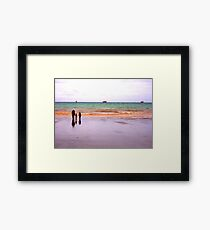 Three - The sea - Puerto Madryn Argentina Framed Print