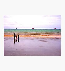 Three - The sea - Puerto Madryn Argentina Photographic Print