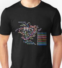 Rail Map of Gensokyo T-Shirt