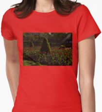 Downtown Victorian Garden - Red Tulips and Sunshine T-Shirt