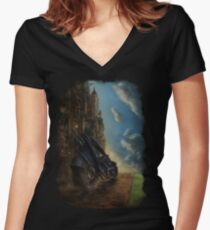The Long Road Women's Fitted V-Neck T-Shirt