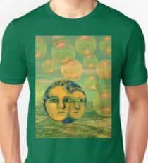 Consciousness - Gold and Green Awakening - Ocean Goddess Unisex T-Shirt