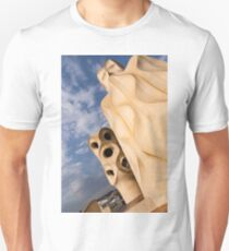Whimsical Chimneys - Antoni Gaudi Casa Mila in Barcelona, Spain Unisex T-Shirt
