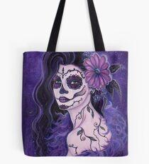 Gänseblümchenpurpurroter Tag der toten Kunst durch Renee Lavoie Tote Bag