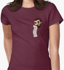 Pocket Crowley Womens Fitted T-Shirt