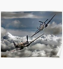 RAF WW2 Spitfire Tailchase Poster