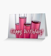 Happy Birthday - test tubes Greeting Card