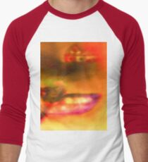 Row Boat in Yellow, Pink and Purple Men's Baseball ¾ T-Shirt