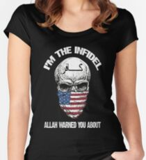 I am the infidel allah warned you about Women's Fitted Scoop T-Shirt