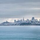 San Francisco Bay Morning Panorama  by Gregory Ballos
