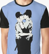 Kissing Coppers Graphic T-Shirt