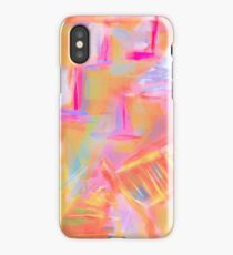 Colorful Abstract Art Sailboat Mug in Pastels iPhone Case