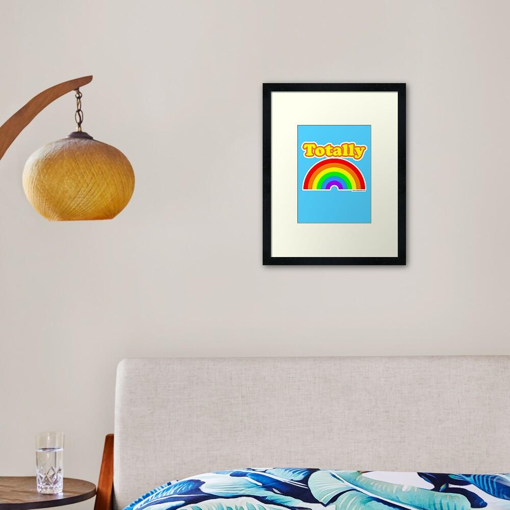 Totally Rainbow Logo Framed Art Print