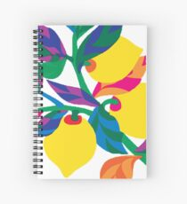 Lemon Abstract Print iPhone 6 Case Spiral Notebook