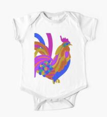 Colorful Abstract Rooster Art Mug One Piece - Short Sleeve