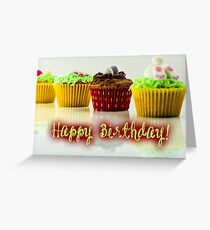 Happy Birthday - Cupcake 04 Greeting Card