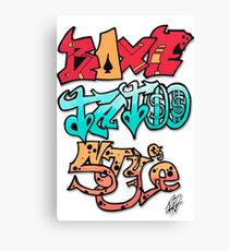 Boxe Tatoo Style Canvas Print