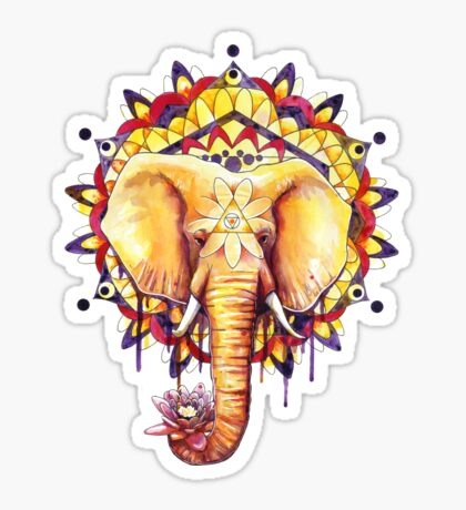 Elephant Mandala Sticker