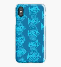 Blue Tropical Fish Abstract Art Throw Pillow iPhone Case
