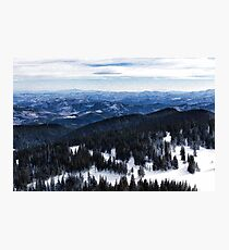 Snowy Ridges - Impressions of Mountains Photographic Print