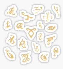 Shadowhunters runes (gold) Sticker