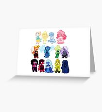 Steven Universe Gems Greeting Card