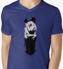 Kissing Coppers Men's V-Neck T-Shirt