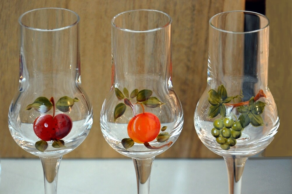 Fruit on glass by Arie Koene