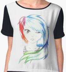 Rainbow Girl Chiffon Top