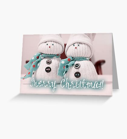 Merry Xmas - Snowman 11 Greeting Card