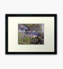 Claude Monet - Bordighera 1884  Impressionism . Famous paintings Framed Print