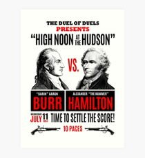 Burr vs Hamilton History Art Print