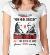 Burr vs Hamilton History Women's Fitted Scoop T-Shirt
