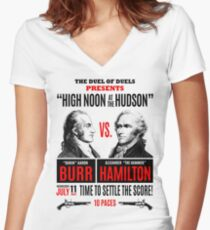 Burr vs Hamilton History Women's Fitted V-Neck T-Shirt