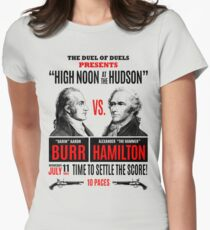 Burr vs Hamilton History Womens Fitted T-Shirt