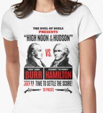 Burr vs Hamilton History Women's Fitted T-Shirt