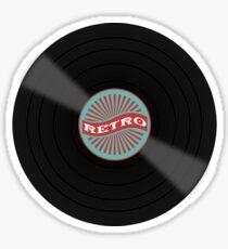 Retro vinyl record design Sticker
